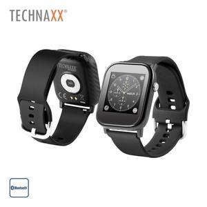Smartwatch TX-SW6HR · 1,4''-Farbdisplay · Pulsmessfunktion, Blutdruck, Blutsauerstoff · Schrittzähler, Kalorienverbrauch, Schlafüberwachung, Herzfrequenzmessung · Anrufe, SMS, E-Mail, WhatsApp,