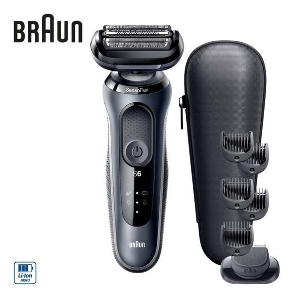 Rasierer Series 6 60-N4500cs · intelligenter SensoFlex-Scherkopf - sorgt für weniger Druck · SensoFoil-Klingen - für eine hautverträgliche Rasur · bis zu 3 Wochen Rasierleistung · 5-min-Schnel