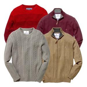 Herren-Pullover oder-Cardigan Größe: S - XXL, je