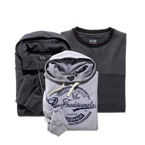 Herren-Sweatshirt mit recycelter Baumwolle, versch. Modelle, Größe: M - XXL, je