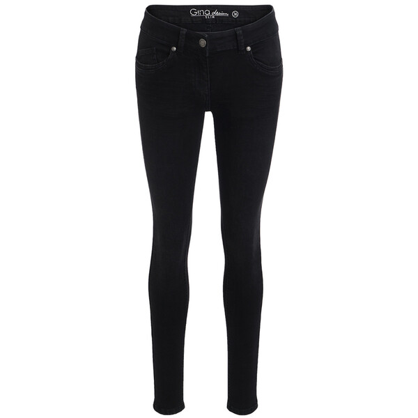 Damen Superflexible-Jeans mit Knopf
