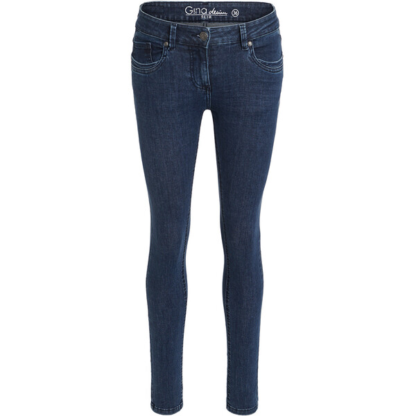 Damen Superflexible-Jeans mit Used-Waschung