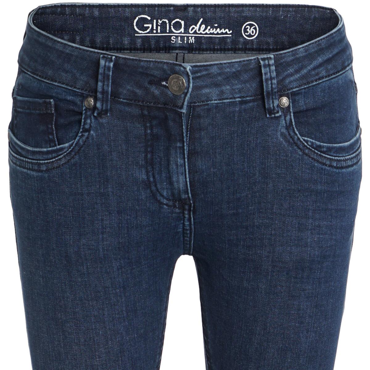 Bild 3 von Damen Superflexible-Jeans mit Used-Waschung