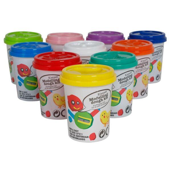 Knetmasse-Set 10-farbig