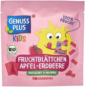 GENUSS PLUS Kids Fruchtblättchen Apfel-Erdbeere