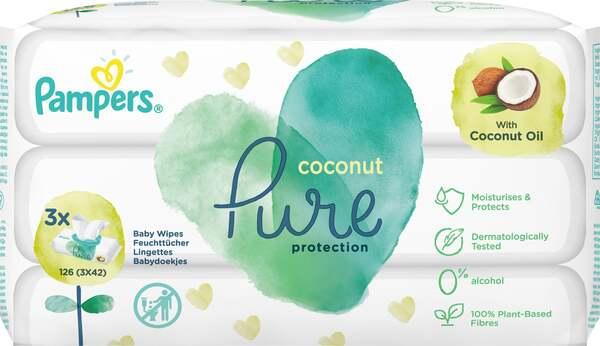 Pampers Feuchttücher Coconut Pure