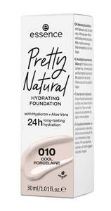 essence Pretty Natural hydrating foundation 010 Cool Porcelaine