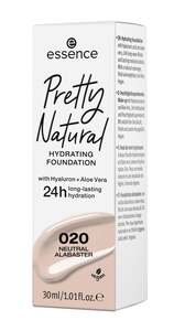 essence Pretty Natural hydrating foundation 020 Neutral Alabaster