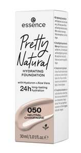 essence Pretty Natural hydrating foundation 050 Neutral Champagne