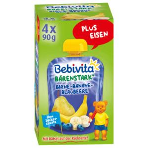 Bebivita Birne Banane Blaubeere 1 Jahr 4x90g