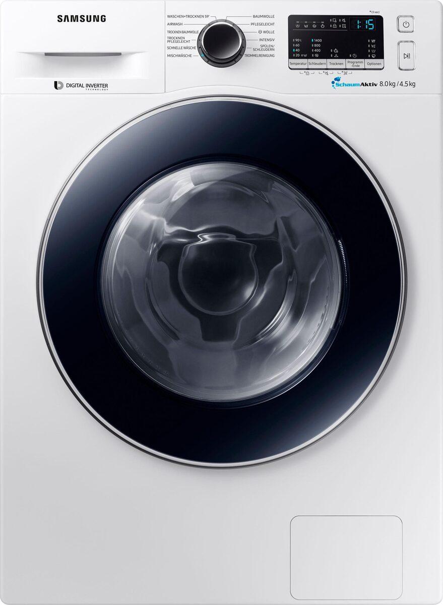 Bild 1 von Samsung Waschtrockner WD8EM4A33JW, 8 kg/4,5 kg, 1400 U/Min