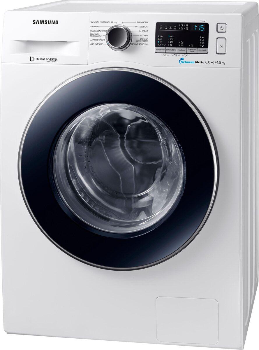 Bild 3 von Samsung Waschtrockner WD8EM4A33JW, 8 kg/4,5 kg, 1400 U/Min
