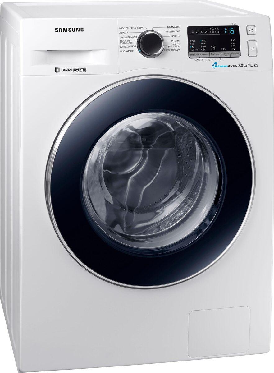 Bild 4 von Samsung Waschtrockner WD8EM4A33JW, 8 kg/4,5 kg, 1400 U/Min