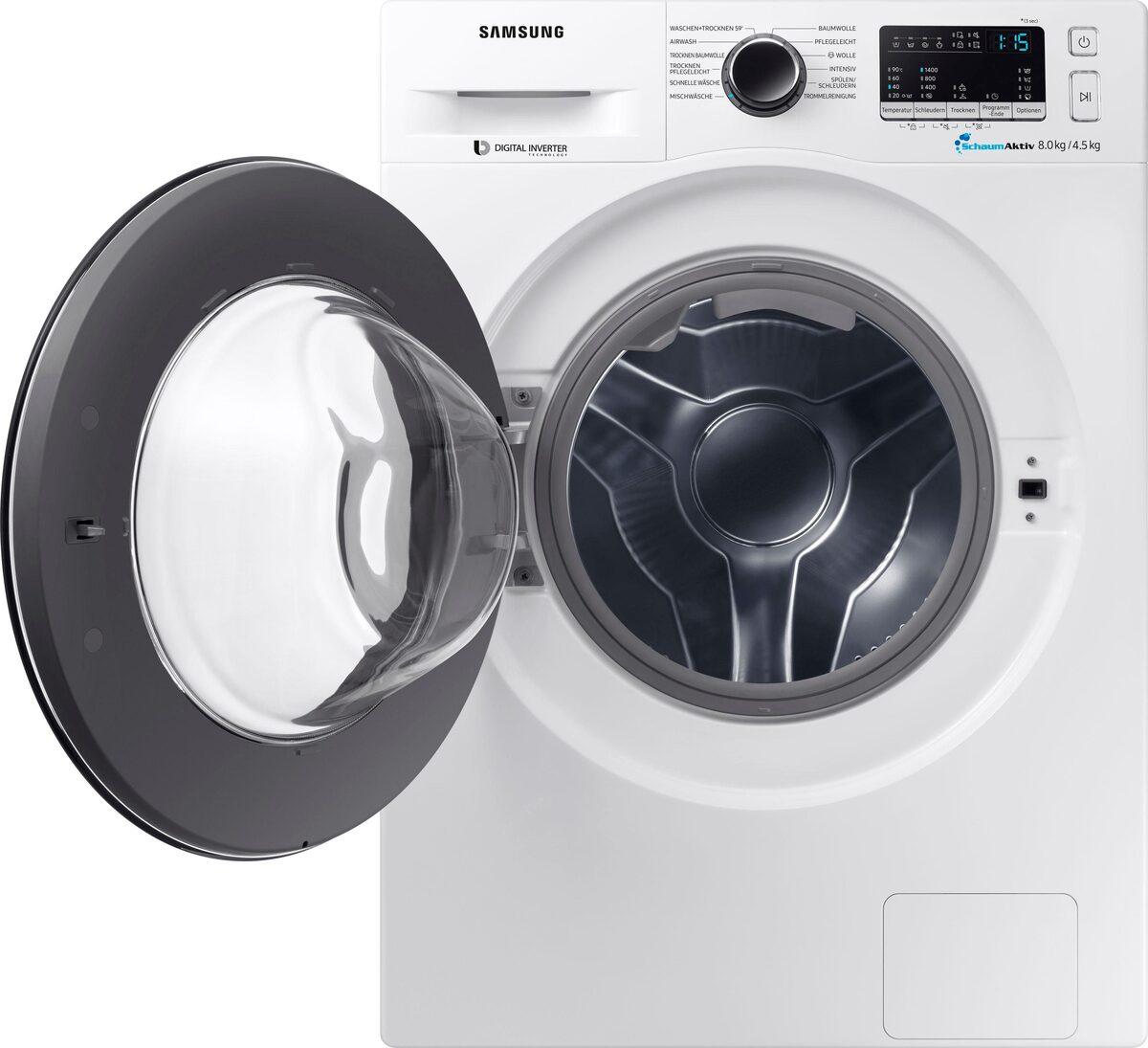 Bild 5 von Samsung Waschtrockner WD8EM4A33JW, 8 kg/4,5 kg, 1400 U/Min