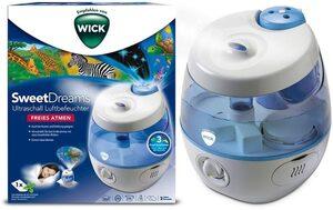 WICK Luftbefeuchter WUL575 SweetDreams, 3,8 l Wassertank, mit Lichtprojektion
