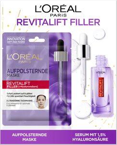L'ORÉAL PARIS Gesichtspflege-Set »Revitalift Filler«, 2-tlg., mit Maske und Hyaluron-Serum