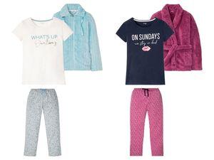 ESMARA® Pyjama Damen, 3-teilig, mit Gummizugbund