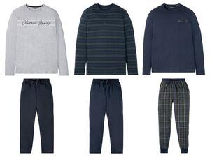 LIVERGY® Pyjama Herren, mit Bindeband, mit Bio-Baumwolle
