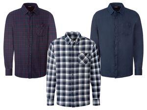 LIVERGY® Freizeithemd Herren, Modern Fit, aus Baumwolle