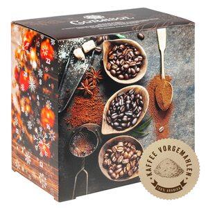 Corasol COR60FCG Flavoured Coffee Kaffee-Adventskalender 2020 XL, 24 aromatisierte Kaffee-Kreationen, gemahlen für Genießer (240 g)