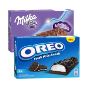 Milka Schoko Snack oder Oreo Fresh Milk Snack
