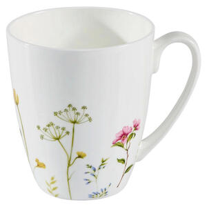 Novel Kaffeebecher , Wildflower , Multicolor, Weiß , Keramik , Floral , 375 ml , 10 cm , glänzend , 0071360401