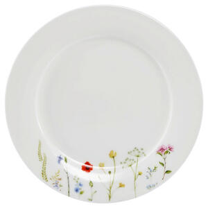 Novel Bone china dessertteller rund , Wildflower , Multicolor, Weiß , Keramik , Floral , glänzend , 0071360403
