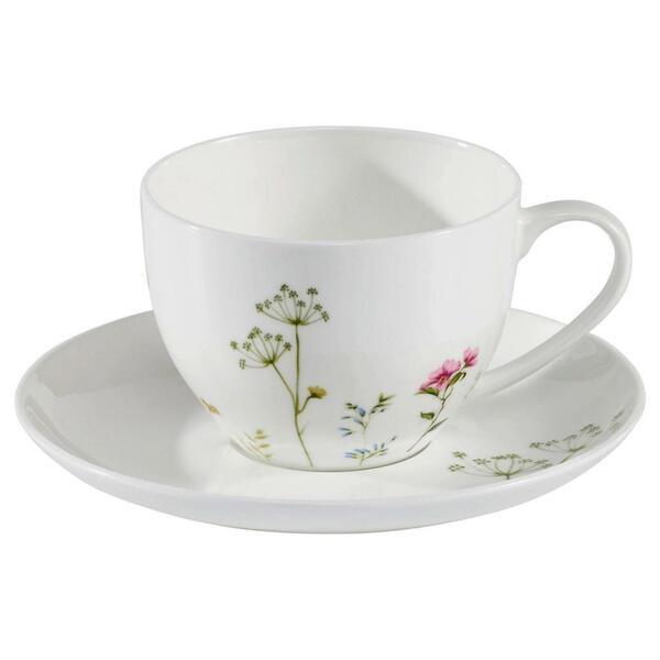Novel cappuccinotasse mit untertasse , Wildflower , Keramik , Floral,Floral , 250 ml , glänzend,glänzend , 0071360400