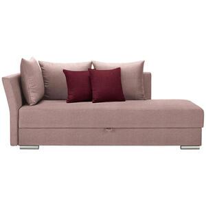 Livetastic Liege webstoff rosa, dunkelrot , Coma , Textil , Uni , 4-Sitzer , 220x93x100 cm , Webstoff , seitenverkehrt erhältlich, Schlafen auf Sitzhöhe , 001574000510