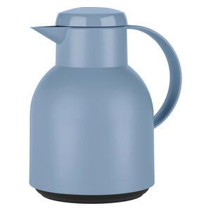 Emsa Isolierkanne 1,0 l , F4010100 - Samba  Isokanne , Hellblau , Kunststoff , lebensmittelecht, 100% dicht, Glaskolben, abnehmbarer Deckel, Schraubverschluss, hält warm, hält kalt , 003262041001