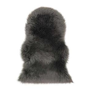 Ambia Home Kunstfell 60/90 cm grau , Emily , Textil , 60x90 cm , für Fußbodenheizung geeignet, in verschiedenen Größen erhältlich, waschbar, rutschfeste Unterfläche , 007821008492