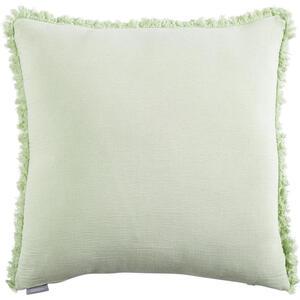 Ambiente Kissenhülle weiß, mintgrün 48/48 cm , Cotton , Textil , Uni , 48x48 cm , 005717000402