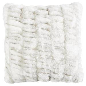 Novel Kissenhülle silberfarben 48/48 cm , Bengal , Textil , Uni , 48x48 cm , Webpelz , bügelfrei , 008982016302
