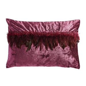 Ambiente Kissenhülle aubergine 40/60 cm , Glam Feather , Textil , Uni , 40x60 cm , Samt , formstabil , 008742008702