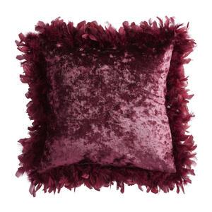 Ambiente Kissenhülle aubergine 43/43 cm , Glam Feather , Textil , Uni , 43x43 cm , Samt , bügelleicht, formstabil , 008742008602