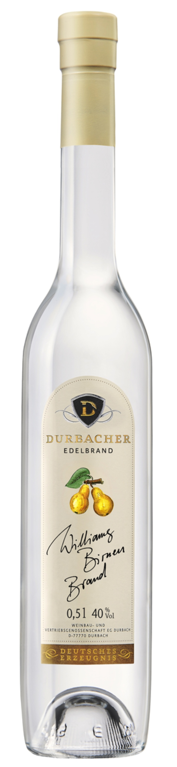 Durbacher Edelbrand Williams Birnen Brand 0,5 ltr