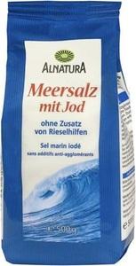 Alnatura Meersalz mit Jod 500G