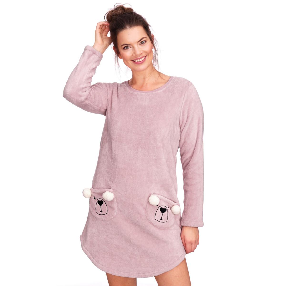 Bild 2 von Damen Fleece-Kleid mit zwei Taschen