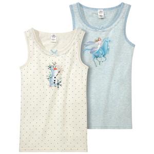 2 Die Eiskönigin 2 Unterhemden mit Rüschen