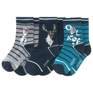 3 Paar Die Eiskönigin 2 Socken mit Olaf-Motiv
