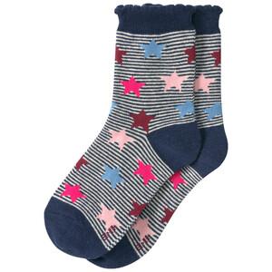 1 Paar Mädchen Socken mit bunten Sternchen