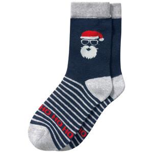 1 Paar Jungen Socken mit Weihnachts-Motiv
