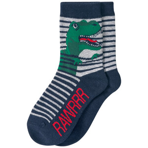 1 Paar Jungen Socken mit Dino-Motiv