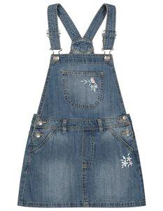 Mädchen Jeanskleid mit Eingrifftaschen
