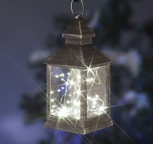 Laterne mit Mini-Lichterkette Wetelux