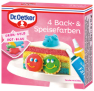 Dr. Oetker Zuckerschrift, Back- & Speisefarben