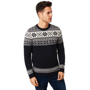Selected Pullover, Bio-Baumwolle, Norweger-Muster, für Herren