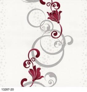 Erismann Vliestapete ,  Floral weiß rot, 10,05 x 0,53 m