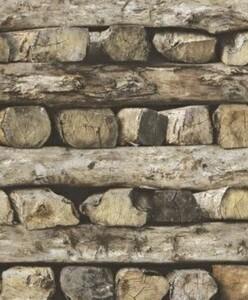 Rasch Vliestapete Selection ,  Holzstapel
