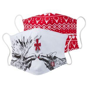Masken mit weihnachtlichen Motiven